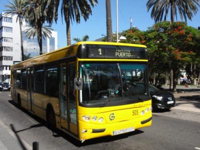In der Kobikarte im Dezember schon enthalten: Der Nahverkehr in Las Palmas.