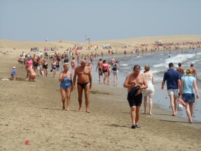 So voll wie diesen Winter war es lange nicht mehr am Strand...