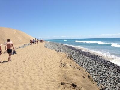 Vorerst ist an der Südspitze - zwischen Maspalomas und Playa del Ingles - Badeverbot!