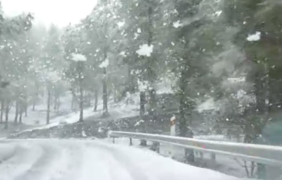 Seit heute Mittag schneit es auf dem Pico...