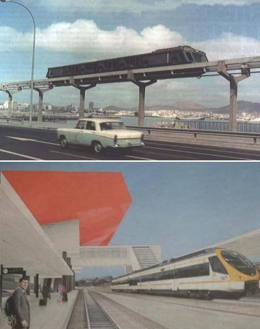 Der Testzug 1974 und der geplante Schnellzug heute...