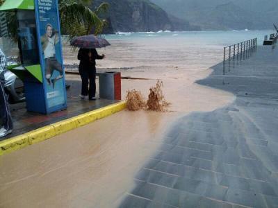 Überflutungen in Agaete. Foto: Twitter