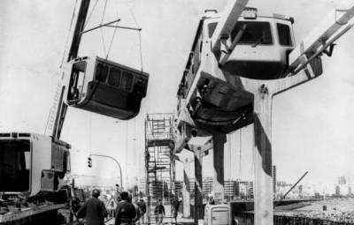 Die Waggons werden Ende 1975 wieder demontiert.
