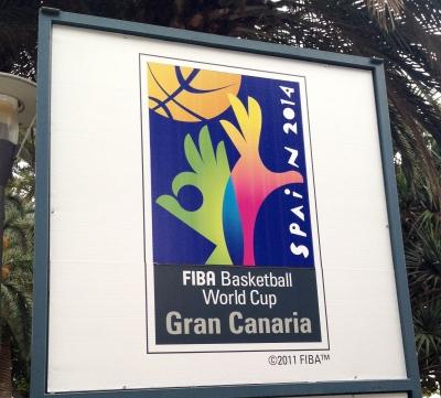 Werbung für die WM in San Telmo (Las Palmas).