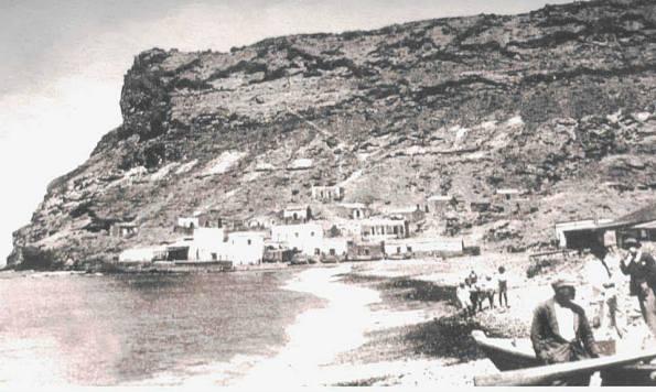 Playa de Mogan um 1930.