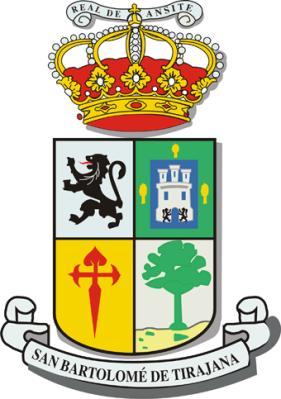 Das Wappen von San Bartolomé.